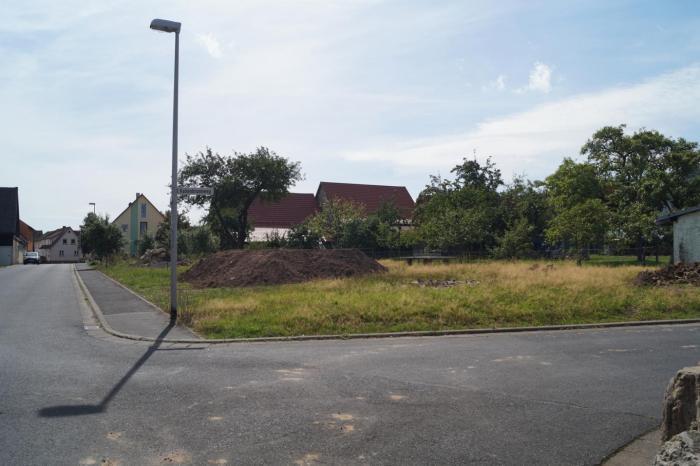 Blick auf den Bauplatz in südliche Richtung